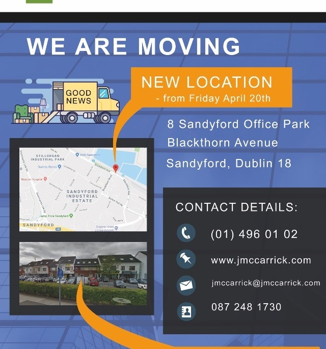 Change of Address - We have Moved to a New Location